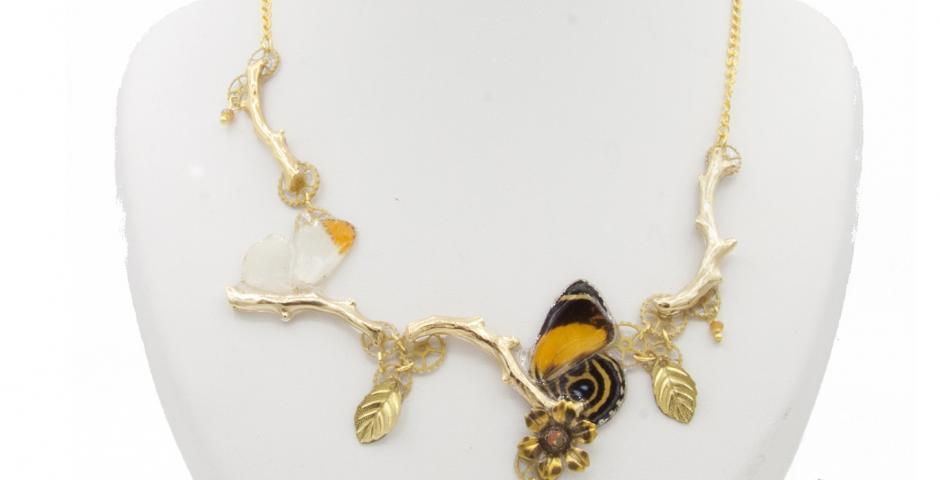 Collier Conte de Grimm Orange